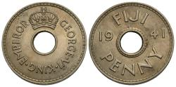 World Coins - Fiji. George VI. 1941. 1 penny. Unc.