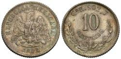 World Coins - Mexico, Second Republic. 1892-Go. Choice Unc., nicely toned.