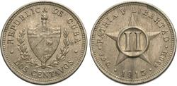 World Coins - Cuba. 1915. 2 centavos. EF.