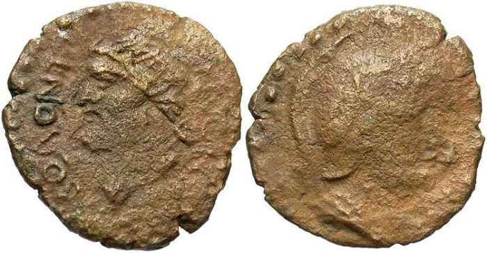 Ancient Coins - Sicily, Solous. After 241 B.C. Æ. Near Fine, rough brown surfaces. Scarce.