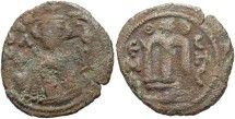 World Coins - Arab-Byzantine. Æ fals. Emisa. Fine, brown patina.