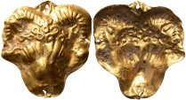 Ancient Coins - Hellenistic Phoenicia. 3rd-2nd centuries B.C. Gold appliqué.