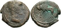 Ancient Coins - Phoenicia, Sidon. Augustus. 27 B.C.-A.D. 14 Æ. Fair/Fine, brown surfaces.