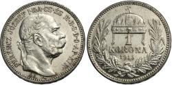 World Coins - Hungary. Franz Joseph I. 1915. 1 korona. Unc., prooflike.