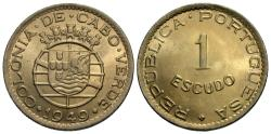 World Coins - Cape Verde. 1949. 1 escudo. Gem BU.