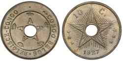 World Coins - Belgian Congo. 1927. 10 centimes. Choice Unc.