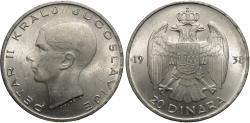World Coins - Yugoslavia. Petar II. 1938. 20 dinara. BU.