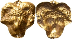 Ancient Coins - Hellenistic Phoenicia. 3rd-2nd centuries B.C. Gold appliqué.