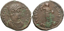 Ancient Coins - Arcadius. A.D. 383-408. Æ. Antioch. Near VF.