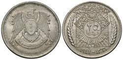 World Coins - Syria. AH 1366 (1947). 25 piastres. Choice BU, lustrous.