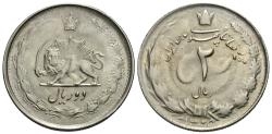 World Coins - Iran, Pahlavi Dynasty. Muhammad Reza Pahlavi Shah. SH 1325. 2 rials. BU, typical soft strike.