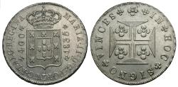 World Coins - Portugal. Maria II. 1835. 400 reis. Unc.