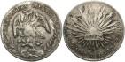World Coins - Mexico. 1887 GO/RR. 8 Reales. Near VF, chop marks.