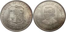 World Coins - Philippines. 1963. 1 Peso. 100th Anniversary Birth of Andres Bonifacio. Unc.