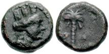 Ancient Coins - Phoenicia, Arados. 3rd century B.C. Æ 10 mm. VF, dark brown patina.