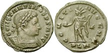 Ancient Coins - Constantine I. A.D. 307/10-337. Æ follis. London, mid-A.D. 310-late 312. Good VF, nice brown patina, edge flaw.