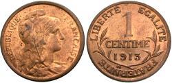 World Coins - France, Third Republic. 1913. 1 centime. Choice BU.