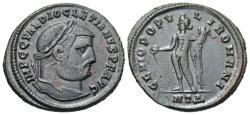 Ancient Coins - Diocletian. A.D. 284-305. Æ follis. Heraclea, ca. A.D. 296/7. Good VF, dark brown patina. Ex Triskeles 26 (8 December 2018), 800.