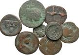 Ancient Coins - [Roman Provincial]. Lot of eight Æ.