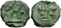 Ancient Coins - Basil II. A.D. 867-886. Æ. Cherson. VF, green patina, ancient flan crack under patina.