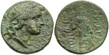 Ancient Coins - Sicily, Akragas. Ca. 240-212 B.C. Æ. VF/Fine, green patina, a little rough.