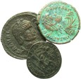 Ancient Coins - [Roman Imperial]. Lot of three late Roman Æ.