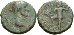 Ancient Coins - Phoenicia, Berytus. Antoninus Pius. A.D. 138-161. Æ. Good Fine, green patina.