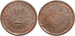 World Coins - Mexico (Revolutionary), Chihuahua. 1914. 5 centavos. Choice Unc., die-breaks.