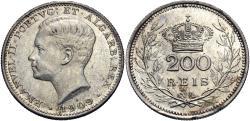 World Coins - Portugal. Emmanuel II. 1909. 200 reis. Unc.