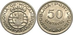 World Coins - Mozambique. 1950. 50 centavos. Gem BU.