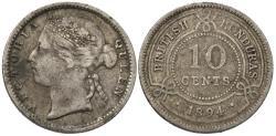 World Coins - British Honduras. Victoria. 1894. 10 cents. Fine.