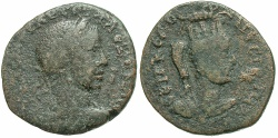 Ancient Coins - Mesopotamia, Nisibis. Severus Alexander. A.D. 222-235. Æ. Near Fine, brown patina. Scarce bust type for Severus Alexander from the mint.