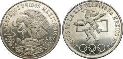 World Coins - Mexico, United States of Mexico. 1968. 25 pesos. Summer Olympics - Mexico City. Choice BU.