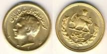 World Coins - Persia, Mohammad Reza Shah, 1320-1358 SH, AV 1 Pahlavi, 8.13 gr, 1326 SH, high relief