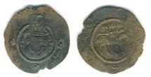 World Coins - Arab- Sasanian, al- Hajjaj b. Yusuf, 75-95 AH, AE fals, 0.90 gr, 18 mm