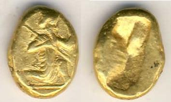 Ancient Coins - Persia, Achaemenid Empire, temp Darios I or Xeraxes II, c. 485-420 BC, AV Daric, 8.30 gr