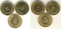 World Coins - Turkey Lot of 3 Gold Coins of 25 Kurus, Mint State