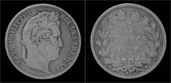 World Coins - France Louis Philippe I 5 francs 1838W