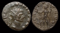 Ancient Coins - Claudius II Gothicus billon antoninianus Virtus standing left