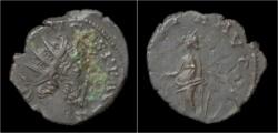 Ancient Coins - Tetricus I billon antoninianus Laetitia standing left.