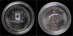 World Coins - Somalia 10 shilling 2000- Pig