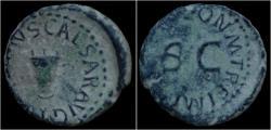 Ancient Coins - Claudius AE quadrans.