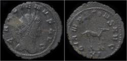 Ancient Coins - Gallienus billon antoninianus antelope standing right