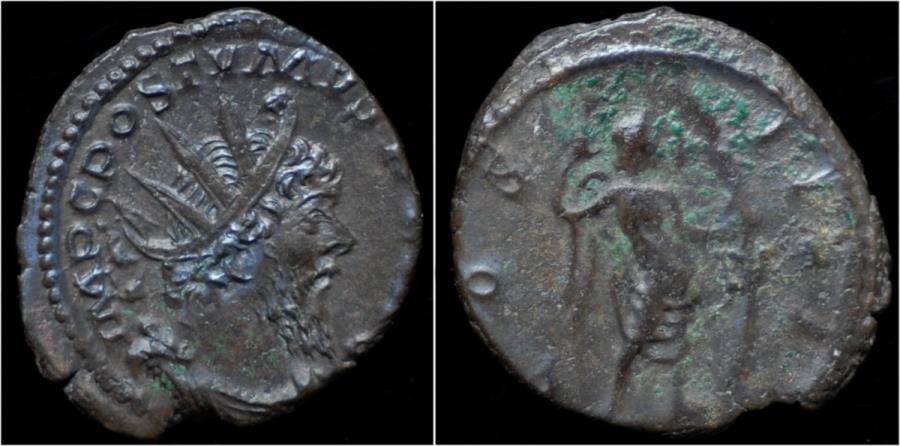 Ancient Coins - Postumus AR antoninianus Victory standing right