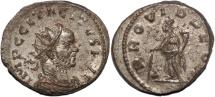 Ancient Coins - Tacitus silvered antoninianus Providentia standing facing