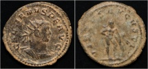 Ancient Coins - Gallienus billon antoninianus Hercules standing right