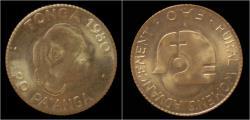World Coins - Gold Tonga 20 Pa'anga 1980