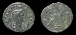 Ancient Coins - Salonina billon antoninianus Vesta seated left
