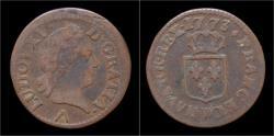 World Coins - France Louis XV liard 1773W