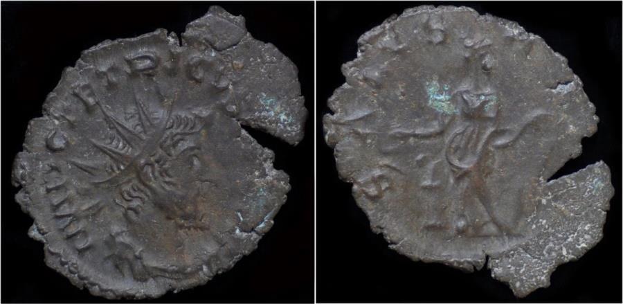 Ancient Coins - Tetricus I billon antoninianus Salus standing left